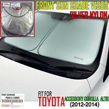 Genuine Toyota Accessories Altis2014 Sunshade Visors Nylonsilver Coat Front New