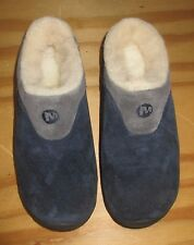 NEW Merrell Encore Ice Navy Blue/Gray Sherpa Lined Slip on Mules Clogs Size 5