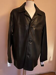 MARC NEW YORK / Andrew Marc 100% 3/4 Length Leather Jacket - XL