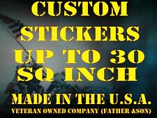 1 Custom Printed Full Color Vinyl Car Bumper Sticker Logo Decal Up To 30 Sq In