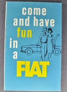 1966 Fiat Brochure 1500 Spider 850 Coupe 700 Sedan Excellent Original Canadian