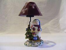 Christmas Snowman Tea Lite With Metal Shade