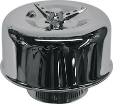 """2 barrel air cleaner chrome smooth sides 2-5/8"""" neck stromberg 97 holley 94 ford"""