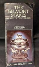 1977 Belmont Stakes Program - Race won by TRIPLE CROWN WINNER SEATTLE SLEW