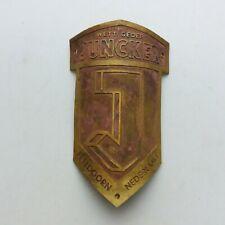 JUNCKER head badge emblem for vintage bicycle