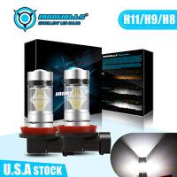 IRONWALLS H11 H8 H9 100W LED Fog Light Bulb Car Driving Lamp DRL 6500K HID White
