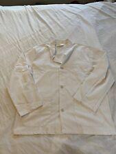 Fashion Seal White Cotton Blend Chef Jacket Coat Size Medium Bc