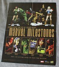 Marvel Milestones 2003 Diamond Select Hulk THANOS Wolverine PROMO Poster FNVF