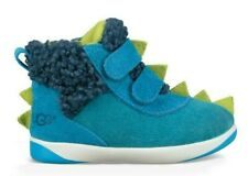 Ugg The Fluff Squad Dydo Pritchard Blue Boys 10 Sneaker Boots Hook And Loop