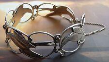 Scottish Shetland 925 Silver Swallow Bird Bracelet Silver 1978