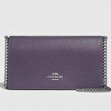 Authentic New Coach Small Purple Convertible Crossbody Belt Bag $225