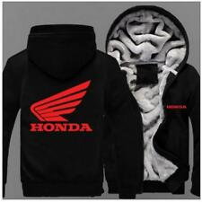 New Hot Red Honda white Honda Zipper Hoodie Winter Coat Fleece Unisex Jacket
