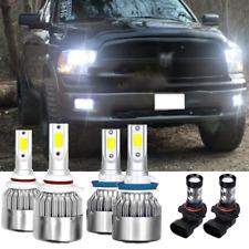 6x Led Headlight Hi/Lo beam+Fog Bulbs for 2009-17 Dodge Ram 1500 2500 3500 4500 (Fits: Dodge)