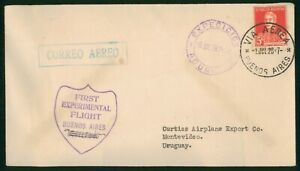 Mayfairstamps Argentina 1928 Experimental Flight to Uruguay Cover wwp79913