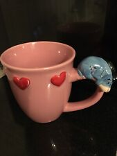 Large DISNEY STORE EEYORE MUG Eeyore on Handle Hearts Decoration Valentines
