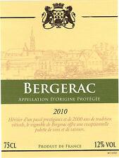 Etiquette de vin - BERGERAC