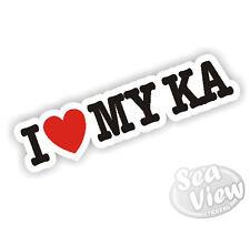 I Heart Love My KA Ford Bubble Car Van Sticker Decal