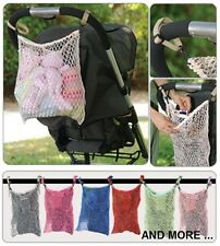 NEW Extra Storage Net Bag for Parms Strollers and Pushcairs, Light & expandable