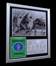 COLCHESTER+1971 FA CUP+LEEDS UNITED+LIMITED+Nod+FRAMED+EXPRESS GLOBAL SHIPPING
