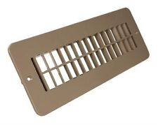 Motorhome Floor Heating Register Without Damper RV Floor Register Vent (Tan)