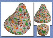 BEAN BAG Sewing Pattern + FREE BONUS Foot Stool Cushion Pattern