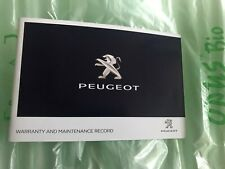 NEW PEUGEOT SERVICE HISTORY AND MAINTENANCE RECORD BOOK GENUINE 206 207 208 3008