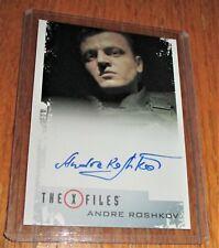 X-Files Seasons 10 & 11 Andre Roshkov as Commander Al Autographed Card