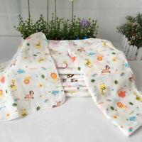 8pcs/Set Cartoon Soft Cotton Square Bath Wash Baby Towel Handkerchief Vogue
