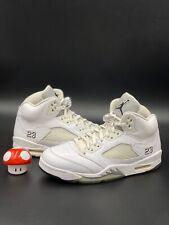 Nike Air Jordan 5 V Retro Size 10 Metallic White Silver Grey 136027 130