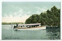 The Steamboat SS Mineola Cruises Canobie Lake, Salem NH Pre-1907 Boat Postcard