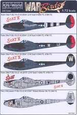 Kits World Decals 1/72 LOCKHEED P-38J LIGHTNING Scat II & Wicked Woman