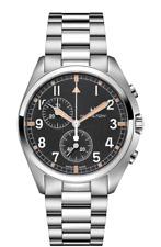 Hamilton Khaki Aviation Pilot Pioneer Chrono Black Dial Men's Watch H76522131