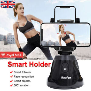 Smart Shooting Selfie Stick 360 Rotation Auto Face Object Tracking Phone Holder