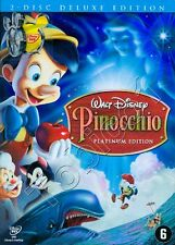 PINOCCHIO - PINOKKIO - WALT DISNEY 2 DVD DELUXE EDITION