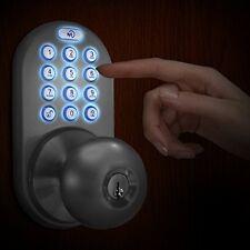 MiLocks Keyless Door Lock No Key Knobs Touchpad Entry Backlit Keypad Back Front