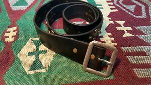 RRL Double RL  Ralph Lauren Distressed Studded Leather Western Belt