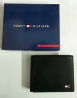 TOMMY HILFIGER WALLET MEN'S BLACK LEATHER FAST SELL LIMITED STOCK WITH BOXED TAG