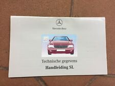 origineel HANDLEIDING 'Technische gegevens' SL 280 320 500 600 60 AMG  R129