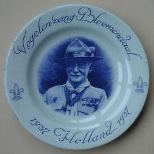 1937 WORLD JAMBOREE POTTERY WALL PLATE LORD BADEN POWELL HOLLAND GOUDA