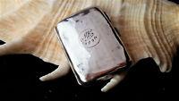Sterling Silver Cigarette/Card Case, Smith & Bartlam (Birm.) Inscribed MH 1936