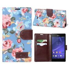 Business Case Sony Xperia Style / T3 Blumen Frühling Sommer blau