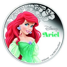 2015 Niue 1 oz Silver $2 Disney Princess Ariel - SKU #89838