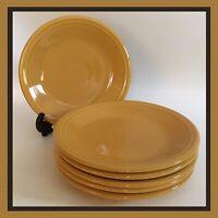 """Homer Laughlin Fiestaware USA - 7 1/4"""" Bread/Dessert Plates - Yellow - SET OF 6"""