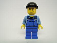 Lego Figur City Hafen Arbeiter Overall blaue Latzhose boat011 7994