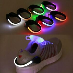 Running LED Luminous Shoe Clip Outdoor Bike Bicycle LED Luminous Night Running