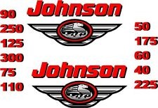 2 JOHNSON BOAT MOTOR DECAL,STICKER,DECALS OUTBOARD
