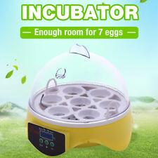 Digital Mini 7-Egg Incubator Hatcher Bird Automatic Clear Chicken Duck Eggs