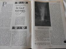 Le Gaz Naturel 1922  coupure de presse
