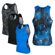 Mens Boys Body Armour Compression Baselayer Sports Thermal Shirt Tops Vest S-3XL