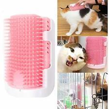 Pet Self Groomer Brush Wall Corner Cat Grooming Massage Comb Toy Catnip Pink